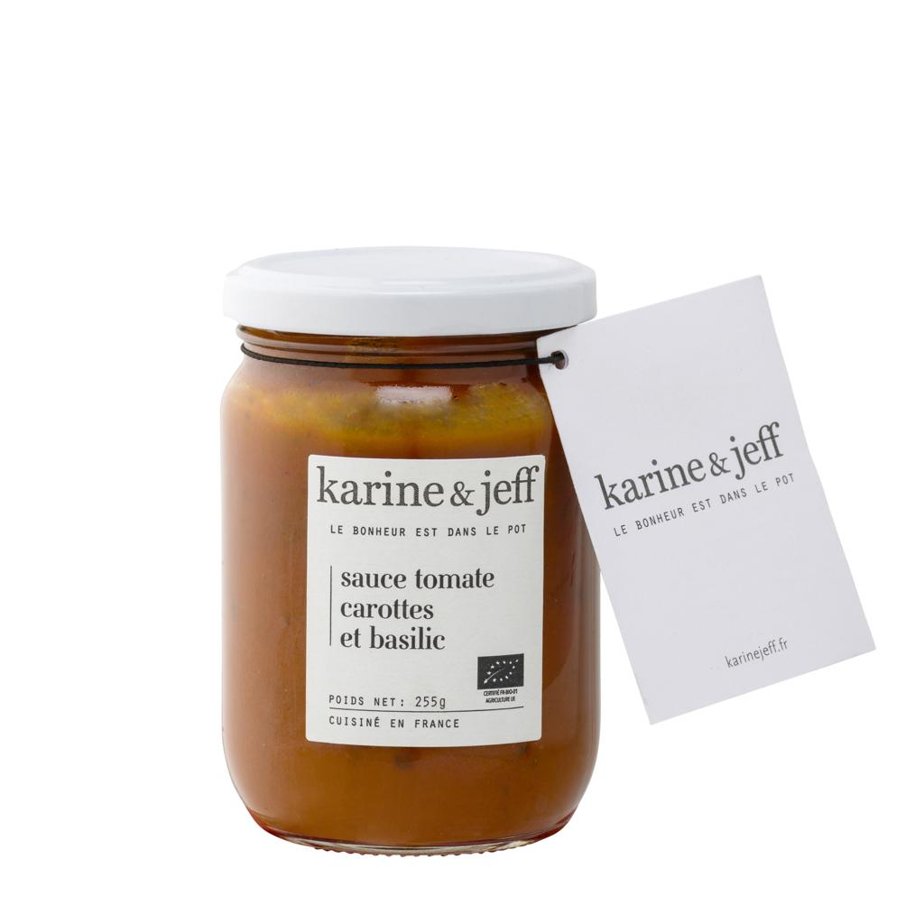 Karine & Jeff - Sauce tomate aux carottes et basilic
