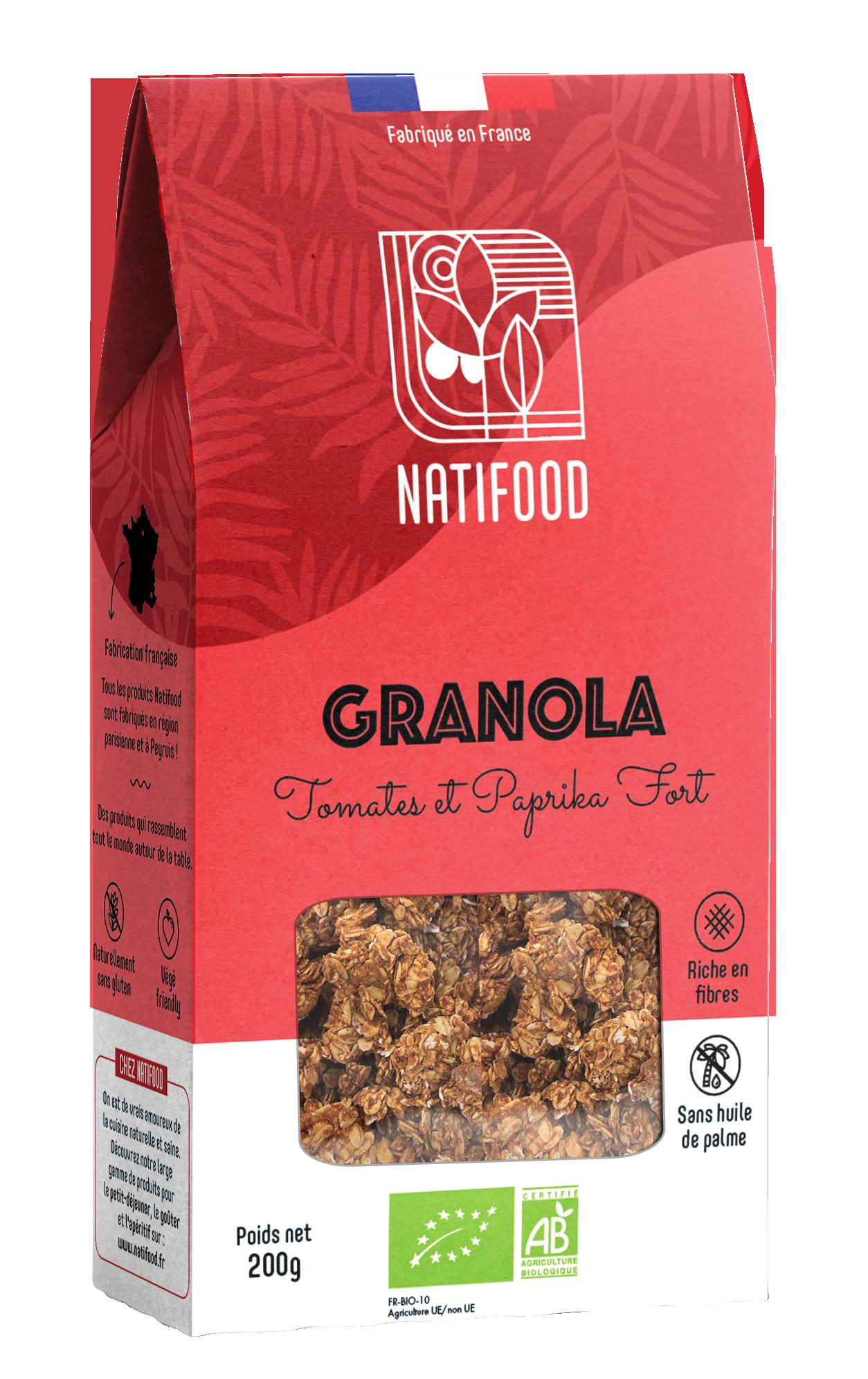 Natifood - Granola Tomates et Paprika Fort - 200 g