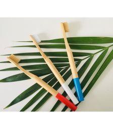 Brosse à dent Bambou biodégradable Couleur - Bleu