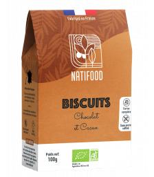 Natifood - Biscuits Chocolat et Cacao - 100 g
