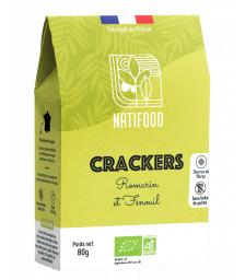 Natifood - Crackers Romarin et Fenouil - 80 g