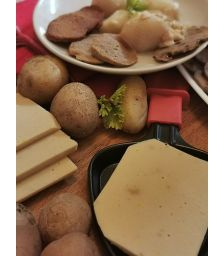 Roots Vegan Food - Kit raclette - 3 x 400 g de Frowmage à raclette (Nature, Fumé, 3 poivres)