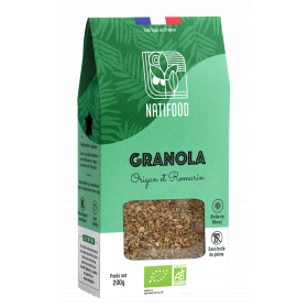Natifood - Granola Origan et Romarin - 200 g